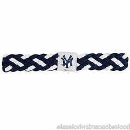 New York Yankees MLB Braided Style Elastic Headband Hairband