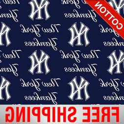 New York Yankees MLB Cotton Fabric - Style# 6646 - Free Ship