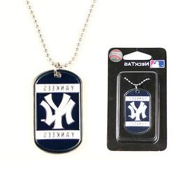 NEW YORK YANKEES MLB Dog Tag Style Necklace w/ Chain - FREE