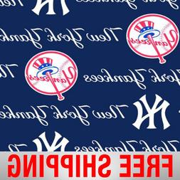 "New York Yankees MLB Fleece Fabric - 60"" Wide - Style# 6569"