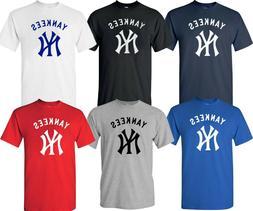 New York YANKEES MLB Graphic UNISEX T-SHIRT Multi Colors S-4