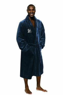 NEW YORK YANKEES MLB NORTHWEST SILK TOUCH BATH ROBE  ONE SIZ