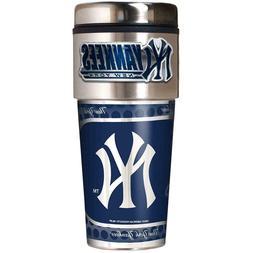 New York Yankees MLB Stainless Steel 16oz Travel Tumbler Cof