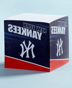 NEW YORK YANKEES MLB STICKY NOTE PAPER CUBE BASEBALL GIFT OF