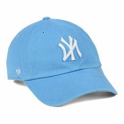 New York Yankees MLB Women's CLEAN UP Light Blue Cap Hat Adj