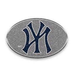 New York Yankees Oval Bling Auto Emblem Decal Sticker MLB
