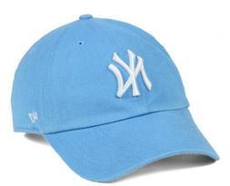New York Yankees Powder Blue Women's Clean Up Hat Cap 47 Bra