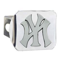 New York Yankees Premium Metal Chrome Hitch Cover Bumper Tra