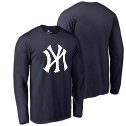 New York Yankees Primary Logo Long Sleeve T-Shirt - Navy Bas