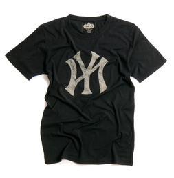 """New York Yankees Retro """"NY"""" Logo Black T-Shirt by Red Jacket"""