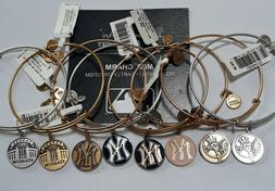 Alex and Ani New York Yankees Russian Gold Silver Enamel Cho