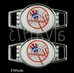 New York Yankees Shoe Charms Lace Paracord Bat and Ball Top