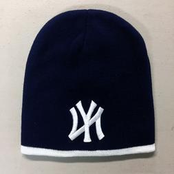 New York Yankees Short Beanie Embroidered NY Skull Cap Hat M