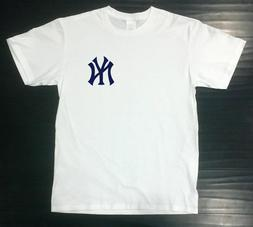 New York Yankees T-Shirt Graphic NY Cotton UNIXSEX Adult Log