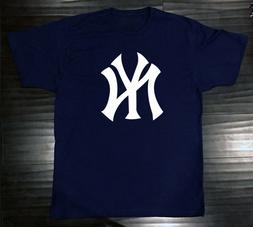New York Yankees T-Shirt Graphic NY Cotton Men Adult Logo Je