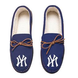 New York Yankees Team Color MLB Men's Moccasins Slippers FRE