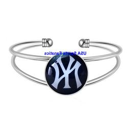 New York Yankees Team Logo Adjustable Bangle Bracelet