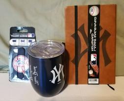 MLB New York Yankees Tumbler/Journal/Mobile Wallet Bundle *N