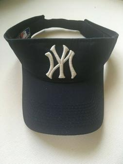 new york yankees visor blue embroidered logo