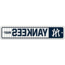 NEW YORK YANKEES WAY ~ Team Logo 3.75 x 19 Wall Display Stre