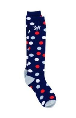 New York Yankees For Bare Feet Women's Polka Dot Socks NWT O