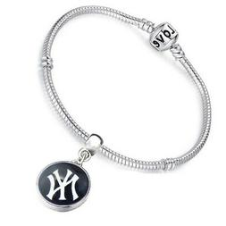 New York Yankees Women's Sterling Silver Snake Link Bracelet