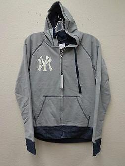 New York Yankees Womens S French Terry Zip Hoodie Sweater 22