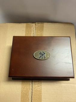 New York Yankees Wooden Card Box New Made By The Memory Co M