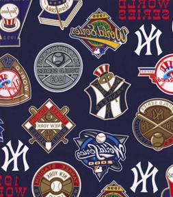 New York Yankees World Series MLB Baseball Team Cotton Fabri