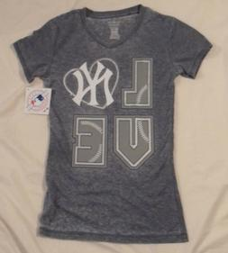 New York Yankees Youth Girls Short Sleeve T-Shirt New w/Tags