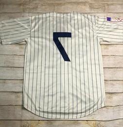 NWT New York Yankees Mickey Mantle Jersey #7 Cream Pinstripe