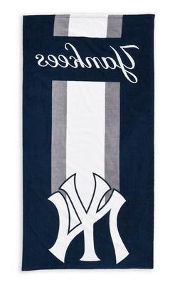 "NWT New York Yankees MLB Navy Beach Towel Bath 30'' x 60"""