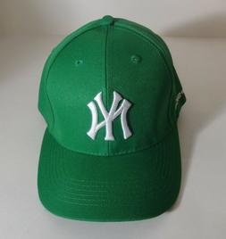 NY YANKEES GREEN MLB BASEBALL CAP HAT ADJUSTABLE STRAP ROBIN