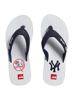 Quiksilver Men's NY Yankees M Sandal, White, 11 M US