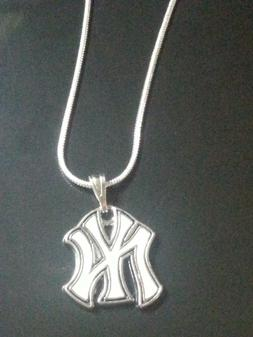 NY Yankees Pendant Necklace New York Yankees on Sterling Sil
