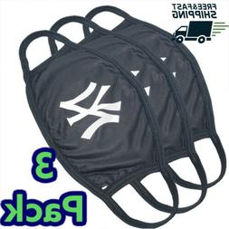 Pack Of 3 | New York Yankees Cloth Face Mask Cotton Reusable