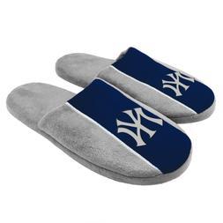 Pair of New York Yankees Big Logo Stripe Slide Slippers Hous