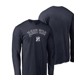 New York Yankees Primary Logo Long Sleeve T-Shirt - Navy Bas
