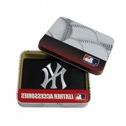 New York Yankees MLB Embroidered Leather Trifold Wallet