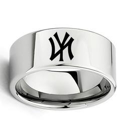 New York Yankees Ring 11mm Men's Tungsten Ring Size 7-13