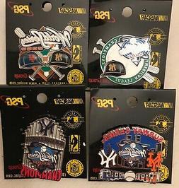 Set of 4 New York Yankees 2000 World Series Pins - BLOWOUT P