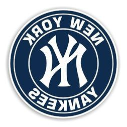 Sticker New York Yankees Baseball Round Decal NY Vinyl Die c