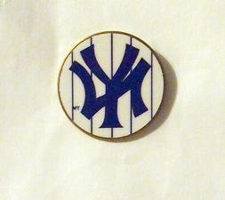 The New York Yankees Logo Baseball Pin White Pinstripe NIP N