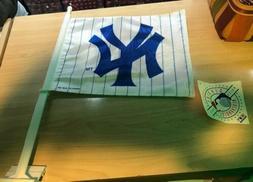 New York Yankees Two Sided Car Flag Wall Mount Window. Vinta