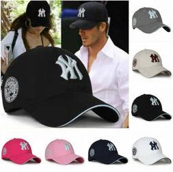 Unisex New York Yankees Baseball Hat Sport Snapback Cap Cott