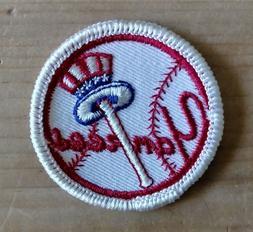 Vintage 1970's New York Yankees Logo Patch Sleeve MLB Baseba