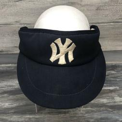 Vtg New York Yankees Sun Visor Hat Cap Adjustable 80's MLB