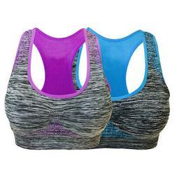 Women Seamless Sports Bra High Impact Pocket Yoga Bra Zero-b