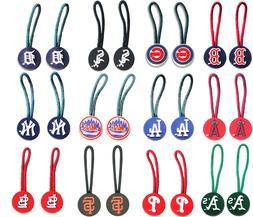 zipper pull pet id charm luggage bag tag MLB PICK YOUR TEAM
